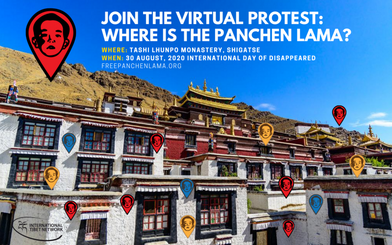 Join the Virtual Protest to find out Where is the Panchen Lama?